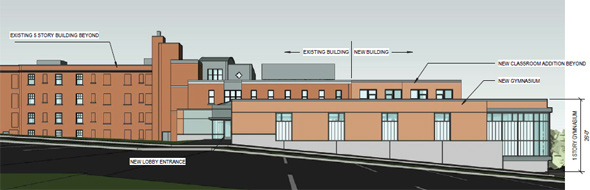 Neighborhood House Charter School expansion rendering
