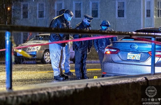 Investigating evidence on Norfolk Street