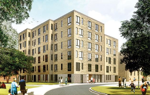 Architect's rendering of 597 Northampton St