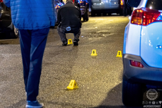 Evidence markers on Norton Street