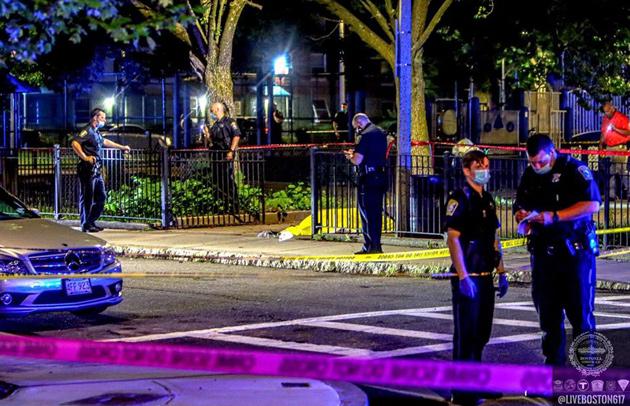 Roxbury murder scene