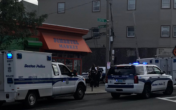Shooting at Pimentel Market on Centre Street