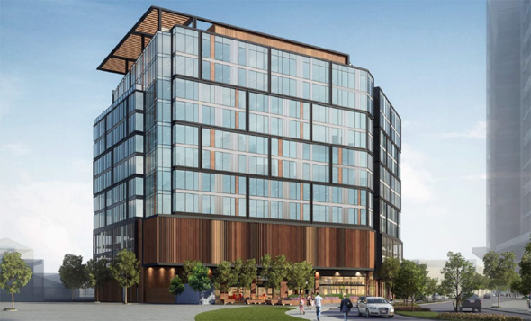 Proposed office building in South Boston