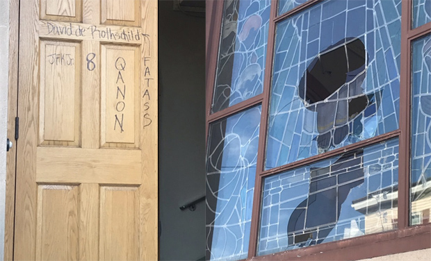 Sacred Heart Parish in East Boston vandalized by somebody familiar with QAnon