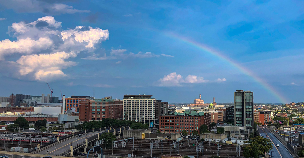 South Boston rainbow