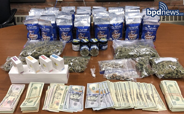 Seized drugs and money