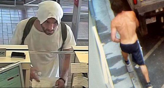 Santander Bank robbery suspect