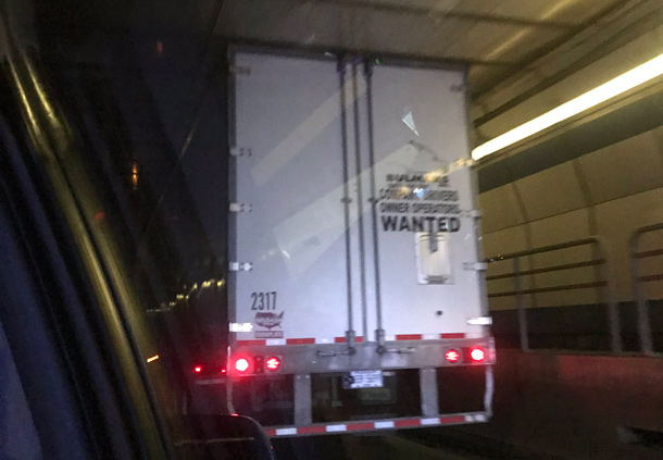 Stuck truck in Sumner Tunnel