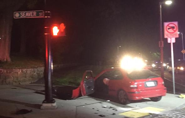 Seaver Street crash