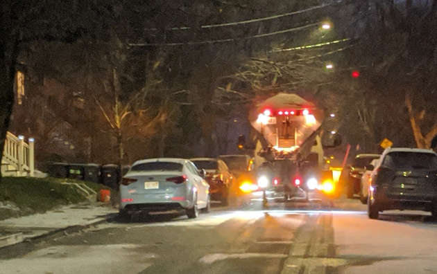 Snowplow in Roslindale