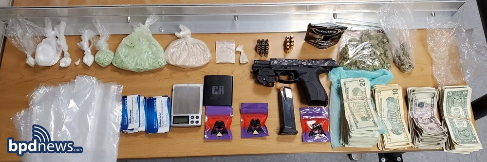 Seized drugs and gun