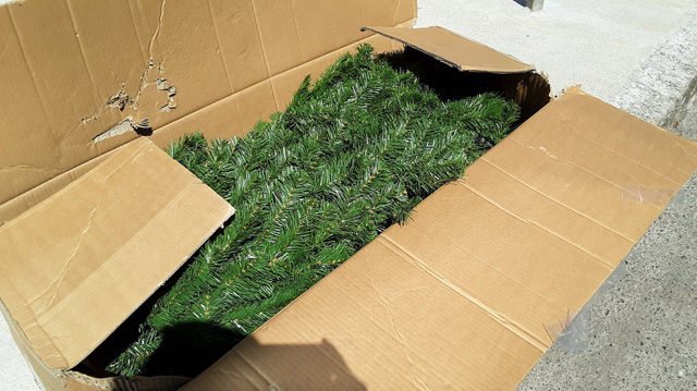 Free fake Christmas tree in South Boston
