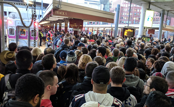 Crowds at South Station