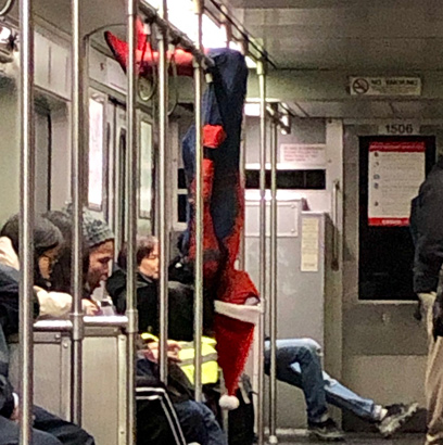Spiderman on the Red Line