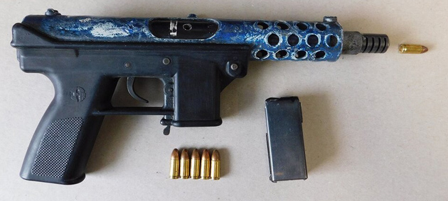 Stolen gun