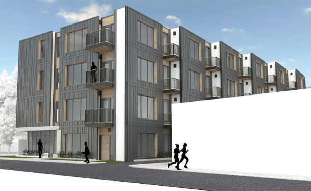 Architect's rendering of Roslindale building