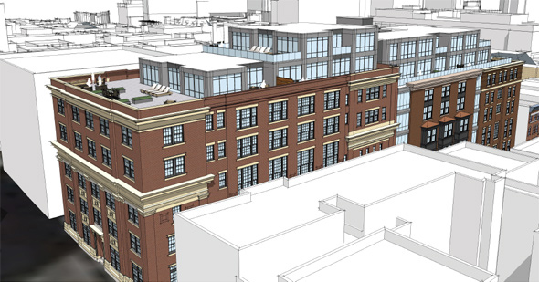 Proposed Temple Street development on Beacon Hill