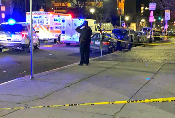 Theater District crime scene