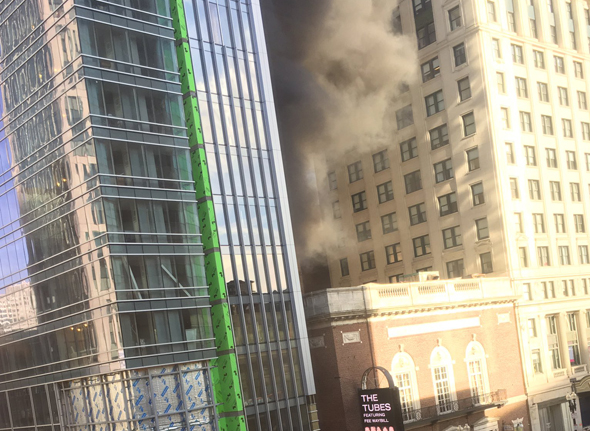 Fire at Tremont Street and Stuart Street