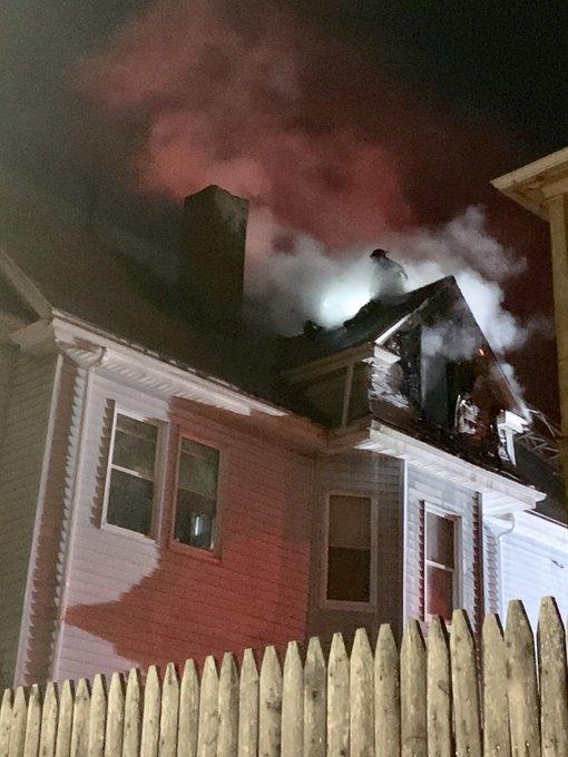 Fire on Warner Street