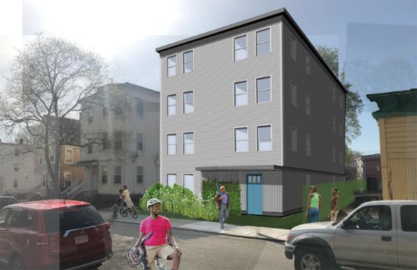 Architect's rendering of Westville Street building
