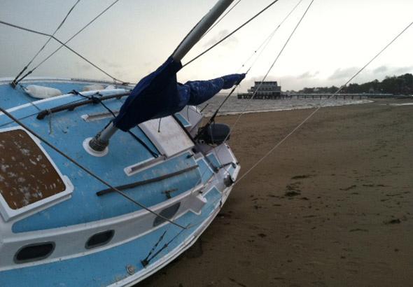 Boat on Wollaston Beach