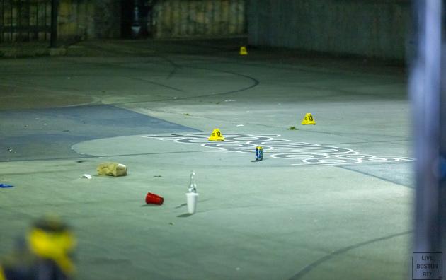Shooting scene in Malcolm X Park