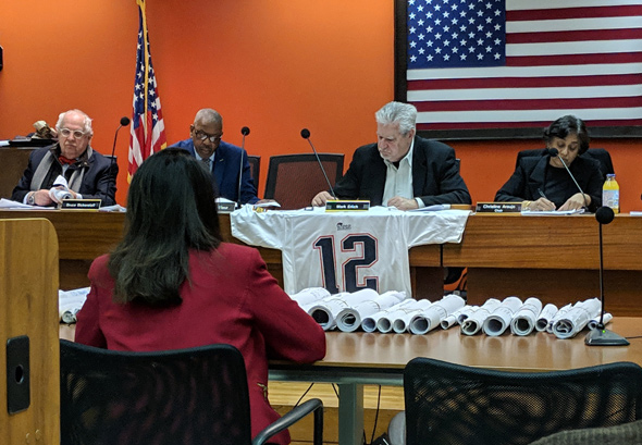 Brady jersey at zoning meetin