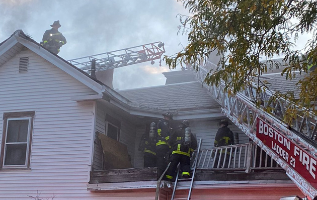 Firefighters at 10 Rockland St. in Roxbury