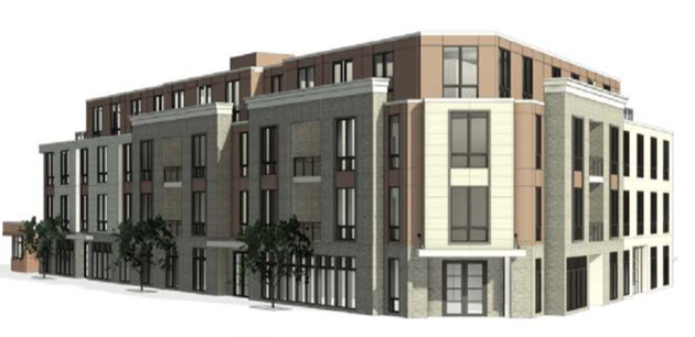 Architect's rendering of the apartment building
