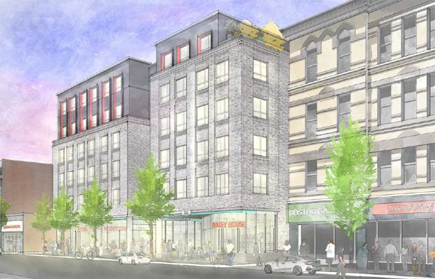 Architect's rendering of Washington Street proposal