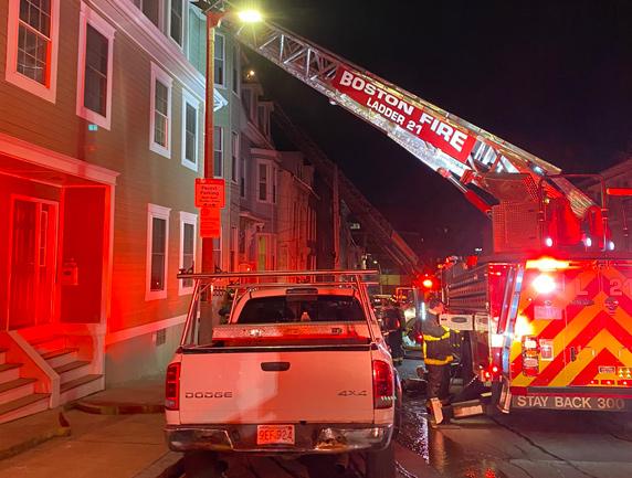 Eutaw Street fire scene