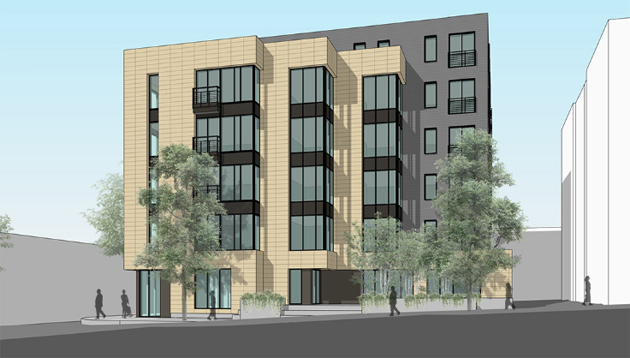 Rendering of proposed new Washington Street building in Roslindale Square
