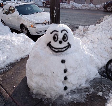 Snowman in Four Corners
