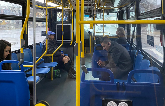 Plenty of seats on the 9 bus