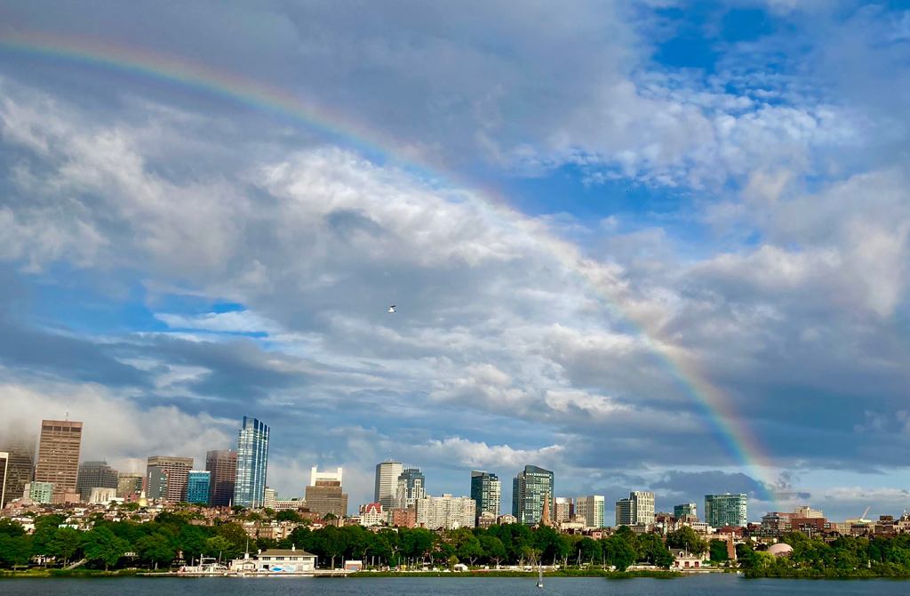 Back Bay rainbow