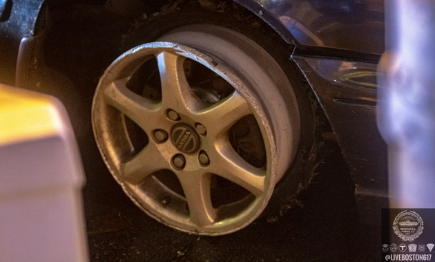 Tire with no rubber left