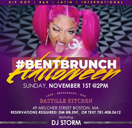 #BentBrunch Halloween flyer