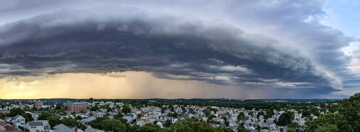 Big storm cloud over Boston area