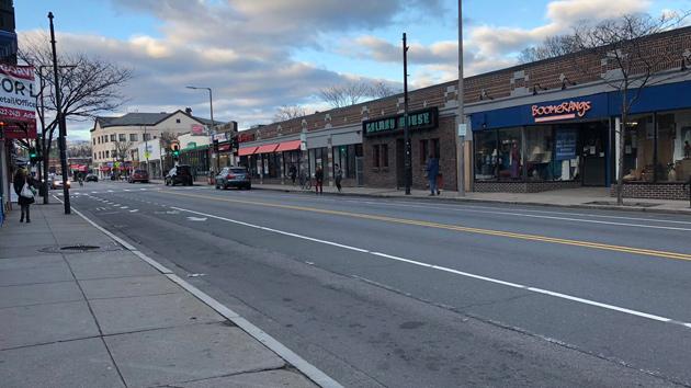 Centre Street in Jamaica Plain