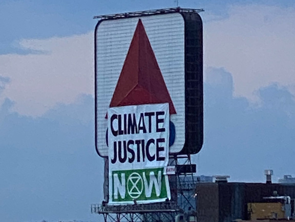 Citgo sign now a Climate Justice sign