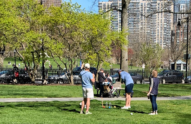 Croquet in the Public Garden