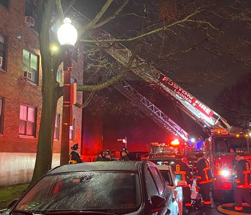 Fire scene in Charlestown