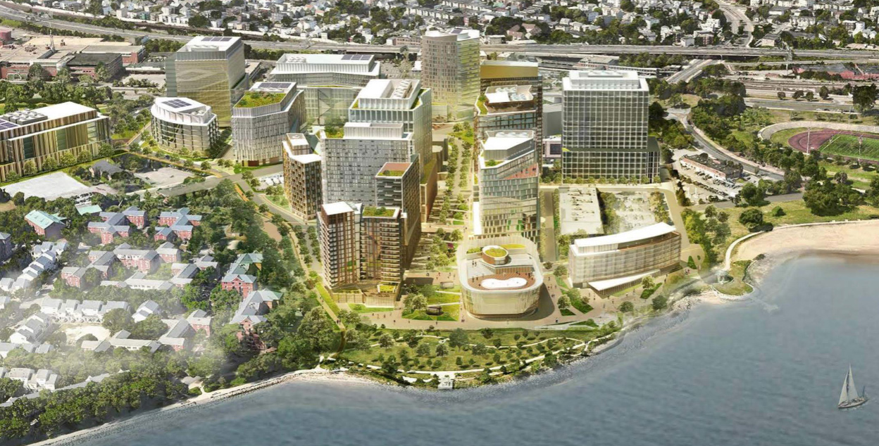 Architect's rendering of new Dorchester Bay City