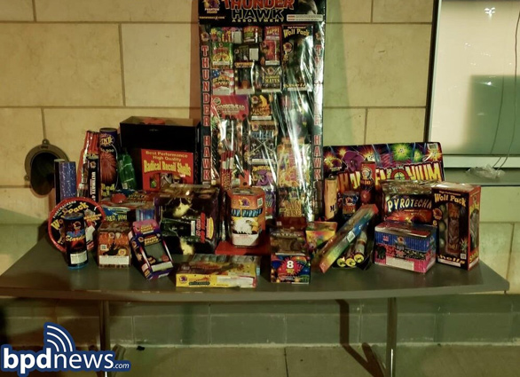 Fireworks seized in Grove Hall