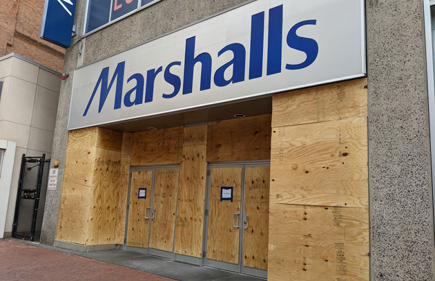 Shuttered Marshalls in Downtown Crossing