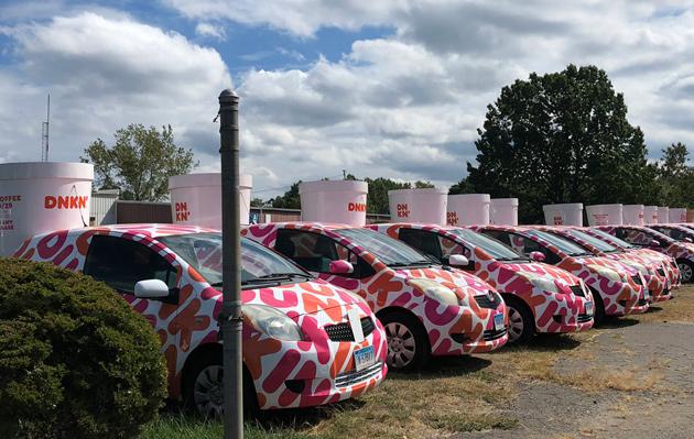 Fleet of battle-ready Dunkin' Donutsmobiles