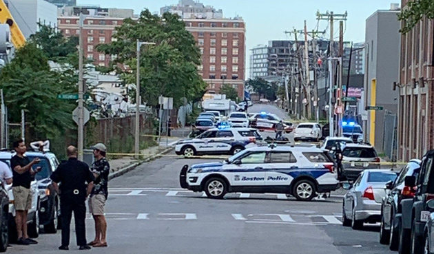 South Boston crash scene
