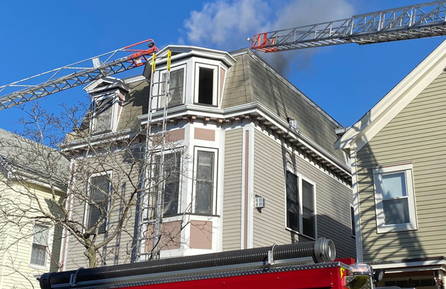 Fire at 588 East Eighth St. in South Boston