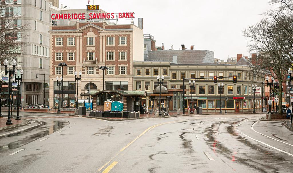 Empty Harvard Square